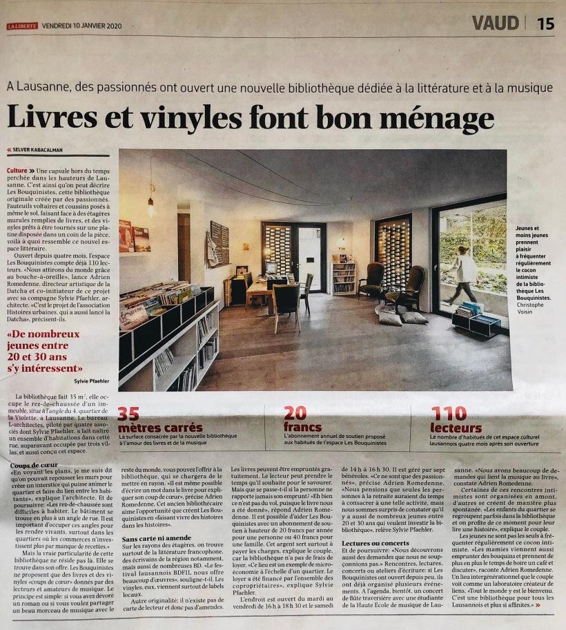 Article La Liberté les Bouquinistes 10-01-20